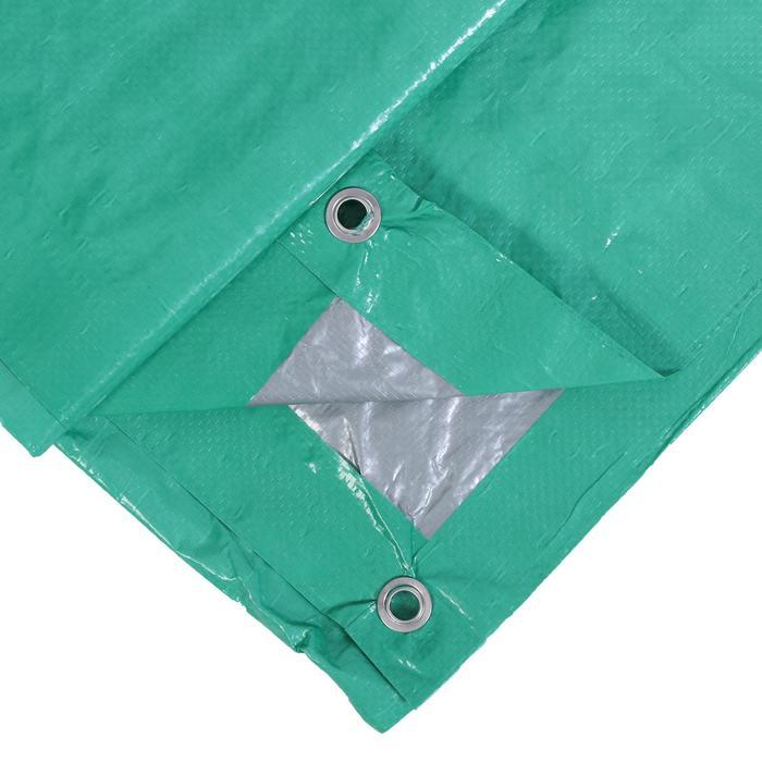 Тент защитный, 3  2 м, плотность 90 гм, люверсы шаг 1 м, тарпаулин, УФ, зелёный