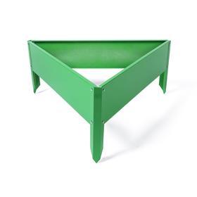 Клумба оцинкованная, 70 × 15 см, ярко–зелёная, «Терция», Greengo Ош