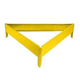 Клумба оцинкованная, 70 × 15 см, жёлтая, «Терция», Greengo Ош