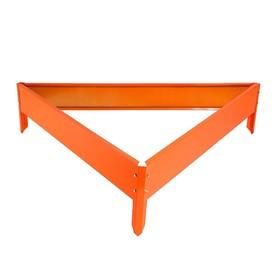 Клумба оцинкованная, 70 × 15 см, оранжевая, «Терция», Greengo Ош