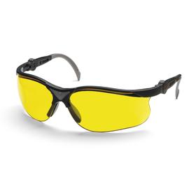 Очки защитные Husqvarna Yellow X, жёлтые линзы, стойкие к царапинам, защита до 400 нм