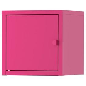 Шкаф ЛИКСГУЛЬТ металлический, 25x25х25 см, розовый Ош