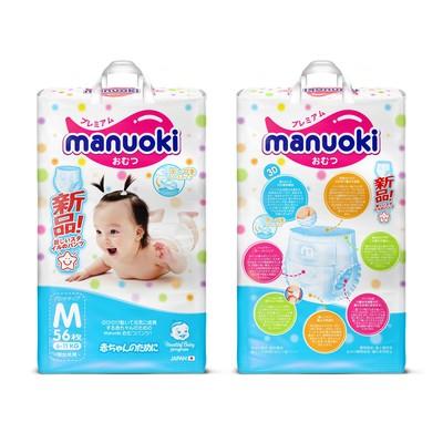 Подгузники-трусики Manuoki M 6-11 кг, 56 шт