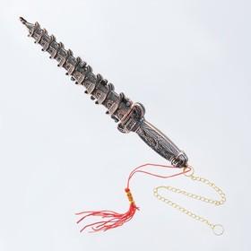 Кортик пагода медь, металл, пластик, 24 см Ош