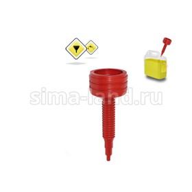 Воронка для бензина с сеткой и гофрой 'ГЛАВДОР' Special GL-795, красная Ош