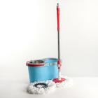 Набор для уборки: швабра, ведро с металлической центрифугой (съёмная) 14 л, запасная насадка из микрофибры, цвет МИКС