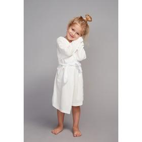 Халат махровый с капюшоном для девочки, рост 98-104 см, цвет белый 1431-56 Ош