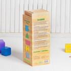Конструктор «Башня» 54 детали, в буковой коробке, брусок: 7.5 × 2.5 × 1.4 см - Фото 3