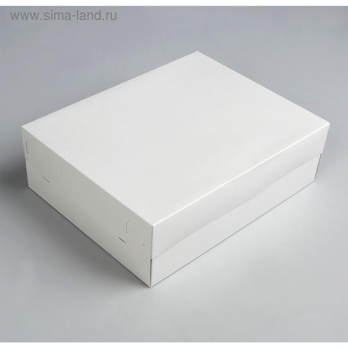Упаковка на 12 капкейков, белая, 32,5 х 25,5 х 10 см