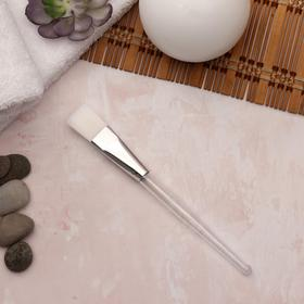 Кисть для масок, 17 см, цвет прозрачный/белый Ош