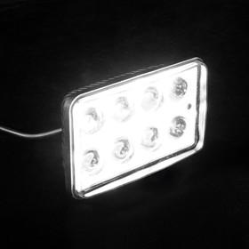 Противотуманная фара TORSO, 8 LED, стекло прозрачное Ош