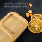 Блюдо для подачи «Бамбук», 2 секции, 17×10 см, цвет бежевый - Фото 3