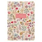 Тетрадь для записей А5, Подписные издания, художник Vicky Od Light Flowers, 24 листа, клетка, 100 г/м²