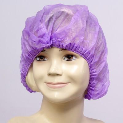 Медицинская шапочка Шарлотта Elegreen, фиолетовая, 10 г/м2 - Фото 1