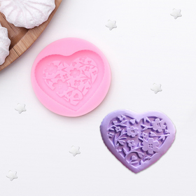 Молд силиконовый 5,7×1 см 'Сердце' Ош