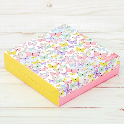 Коробка складная «Для тебя», 14 × 14 × 3.5 см