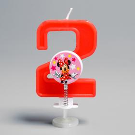 Свеча в торт цифра Дисней '2', Минни Маус Ош