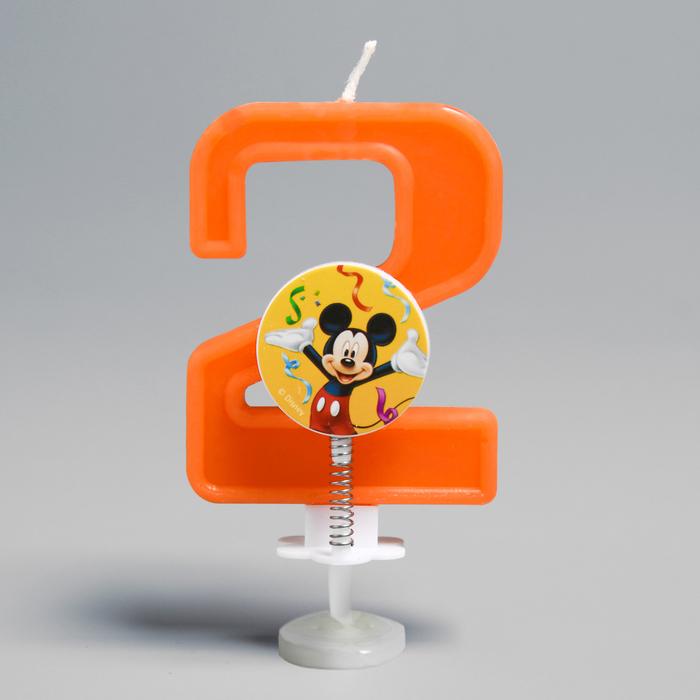 Свеча в торт цифра Дисней 2, Микки Маус