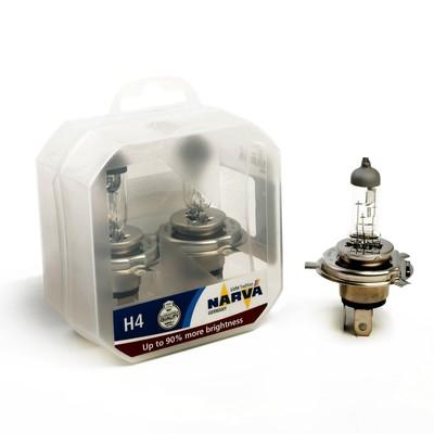 Лампа автомобильная NARVA RANGE POWER +90% RPH, H4, 12 В, 60/55 Вт, 48003 S2, 2 шт