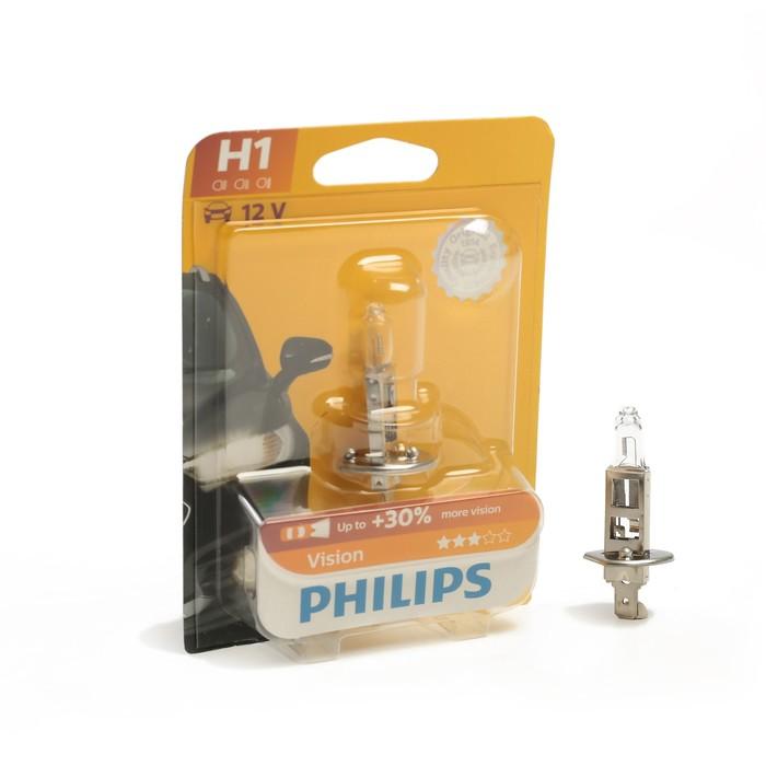 Автолампа PHILIPS Vision +30%, H1 (P14.5s), 12 В, 55 Вт, блистер, 12258 PR B1
