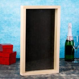 Накопитель для пробок, 48х28х5см, ХВОЯ с обычным стеклом Ош