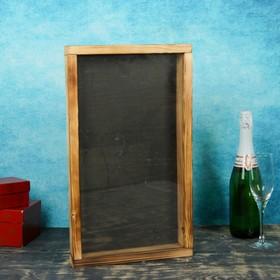 Накопитель для пробок, 48х28х5см, ХВОЯ, термо с обычным стеклом Ош