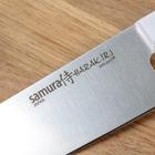Набор кухонных ножей  Hаrаkiri, 3 шт: лезвие 10 см, 12 см, 20 см, белая рукоять - Фото 6