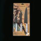Набор кухонных ножей  Hаrаkiri, 3 шт: лезвие 10 см, 12 см, 20 см, белая рукоять - Фото 8