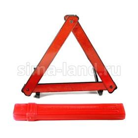 Знак аварийной остановки красный, пластиковый бокс Ош