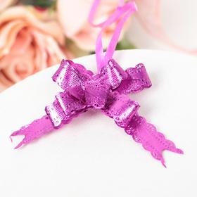 Бант-бабочка №1.2 розовый