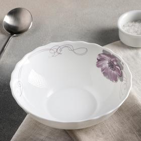 Тарелка суповая Доляна «Сиреневое блаженство», 600 мл,18×5 см