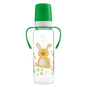 Бутылочка для кормления тритановая с ручками, силиконовая соска, 250 мл, от 12 месяцев, цвет МИКС