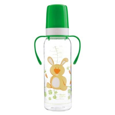 Бутылочка для кормления тритановая с ручками, силиконовая соска, 250 мл, от 12 месяцев, цвет МИКС - Фото 1