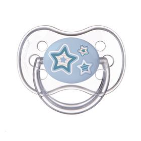 Пустышка силиконовая круглая Newborn baby, от 6 до 18 мес., цвет МИКС