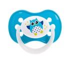 Пустышка силиконовая симметричная Owl, от 0 до 6 мес., цвет МИКС - Фото 2