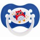 Пустышка силиконовая симметричная Owl, от 0 до 6 мес., цвет МИКС - Фото 5