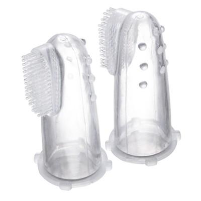 Зубная щётка «Первая», силиконовая с массажными выступами, на палец, в контейнере - Фото 1