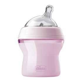 Бутылочка для кормления Natural Feeling, сил. соска с наклоном и флексорами, 150 мл, от 0 мес., цвет розовый