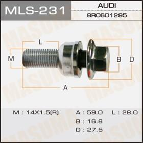 Болт колесный  Masuma MLS231 Ош