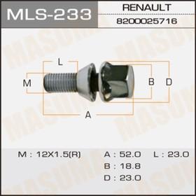 Болт колесный  Masuma MLS233 Ош