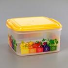 Контейнер для хранения продуктов 1,4 л Vitaline, цвет солнечный