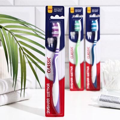 Зубная щётка Rendall Classic, жёсткая, 1 шт. МИКС - Фото 1