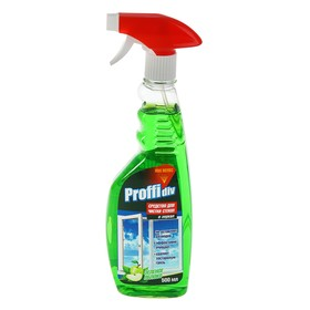 """Средство для мытья стёкол и зеркал Proffidiv """"Зелёное яблоко """", с триггером, 500 мл"""