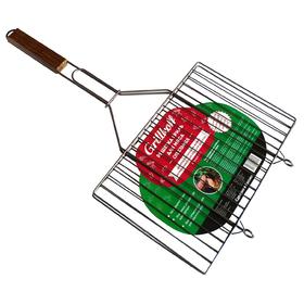 Решётка гриль для мяса Grillkoff 350х230 мм, стальная, плоская Ош