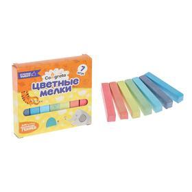 Мелки цветные Calligrata, в наборе 7 штук, квадратные, МИКС