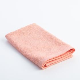 Полотенце махровое «Экономь и Я» 30х30 см, цвет персик Ош