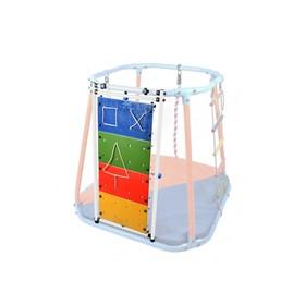 Модуль развивающий стенд, цвет белый/радуга