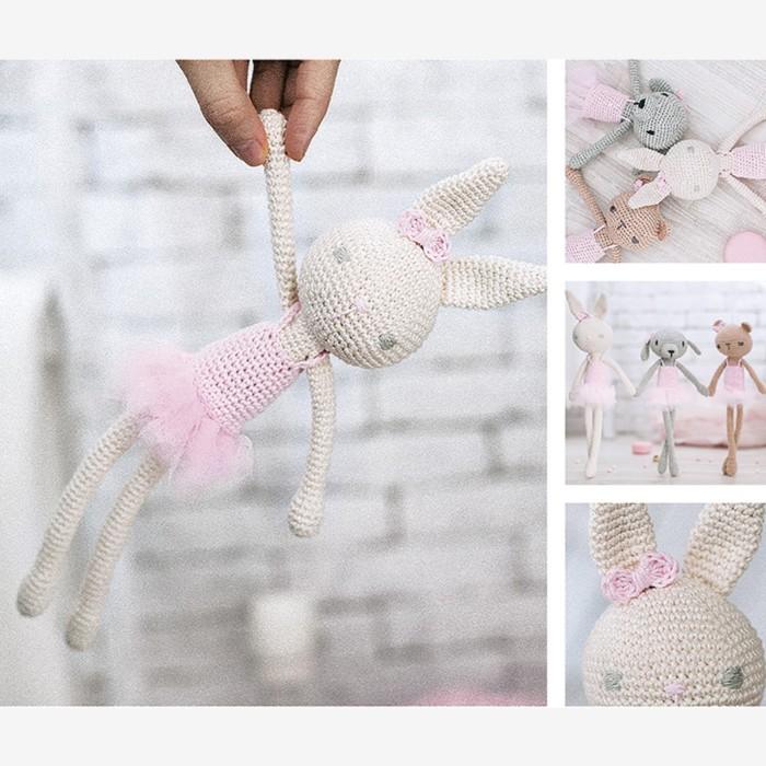 Амигуруми: Мягкая игрушка «Заинька Банни», набор для вязания, 10 × 4 × 14 см