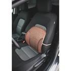Ортопедическая спинка на сиденье усиленная со вставками, 38x39 см, коричневый