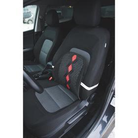 Ортопедическая спинка на сиденье усиленная, ромб, 38x39 см, черный Ош